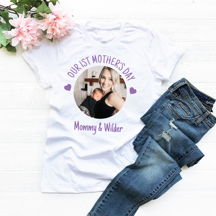 Personalized Name and Photo Mother's Day Mom Tee