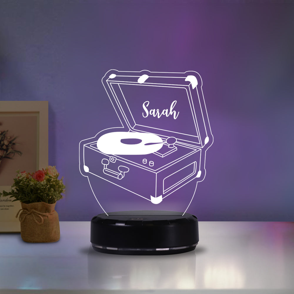Personalized phonograph acrylic light
