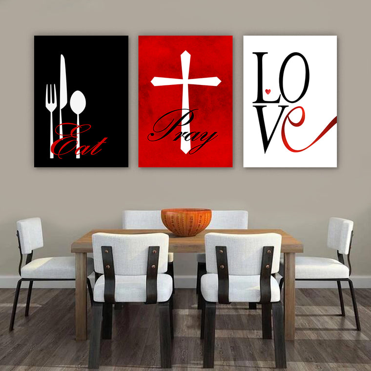 Eat Pray Love Modern Wall Art Set III