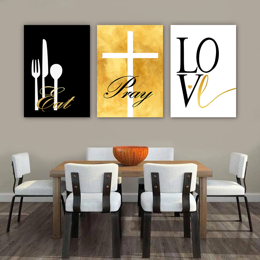 Eat Pray Love Modern Wall Art Set I