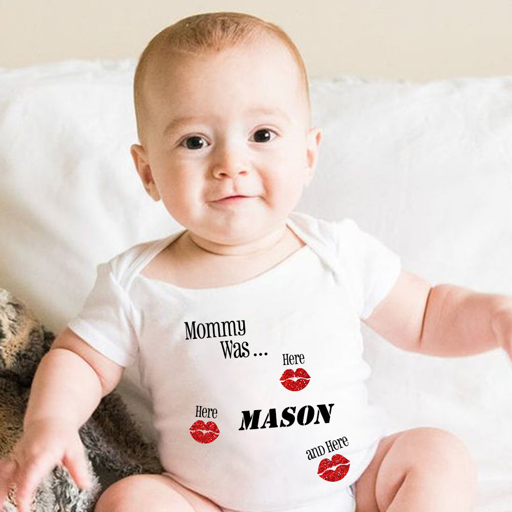 Personalized Name Baby Valentine's Day Onesie IV