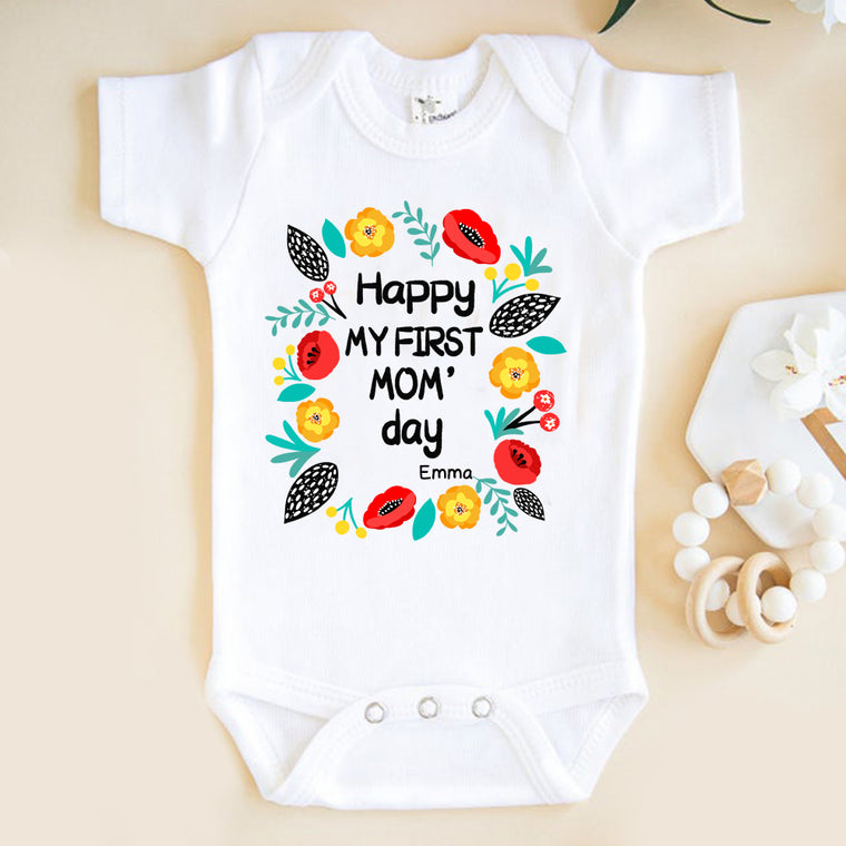 Custom Name Mom's Day Infant Fine Jersey Bodysuit II