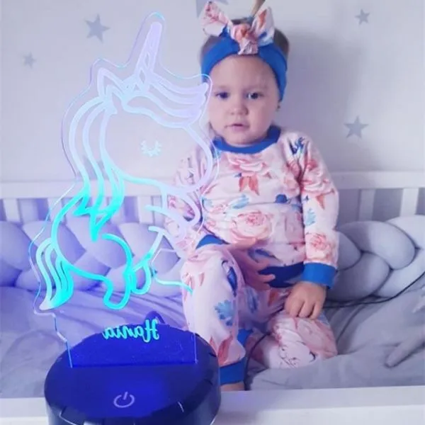 Personalized Unicorn LED Lamp (Ashley Version)
