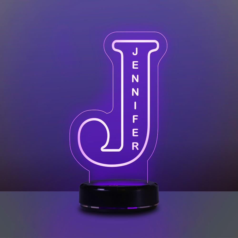 Custom Alphabet Night Lights Personalized Name Lamp