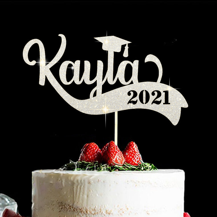 Personalized Cake Topper for Graduation IV, Custom Gift fort Class of 2021
