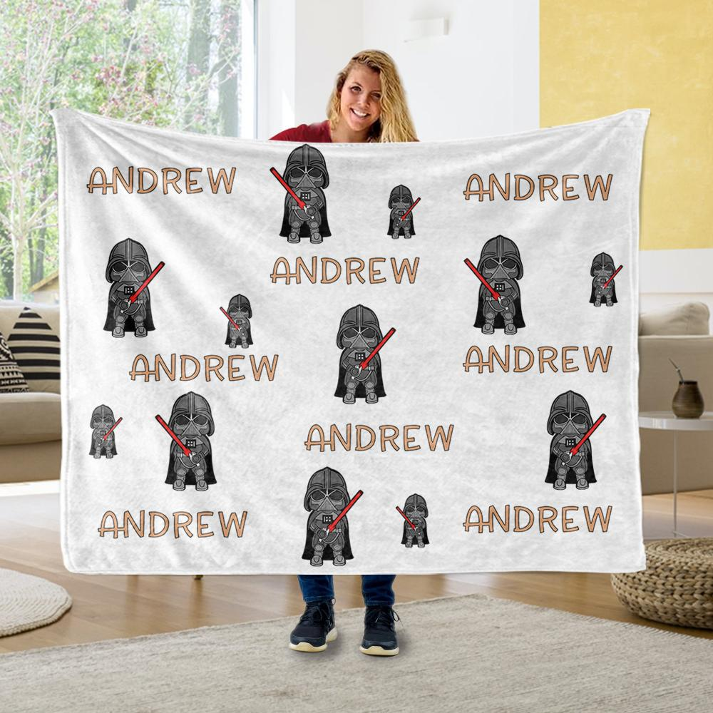 Personalized Name Cartoon Cozy Plush Fleece Blankets III - BUY 2 SAVE 10%