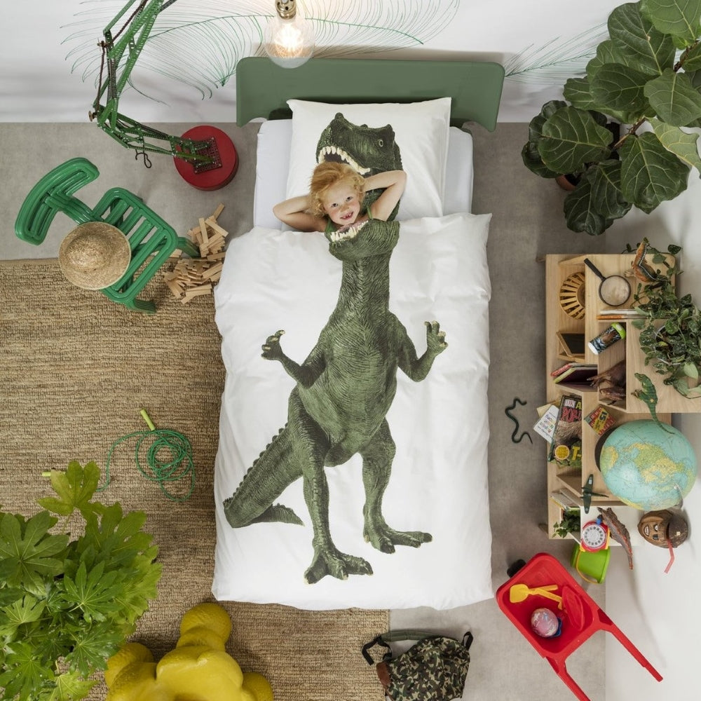 Personalized Name Kid Dinosaur Microfiber Bedding Set I