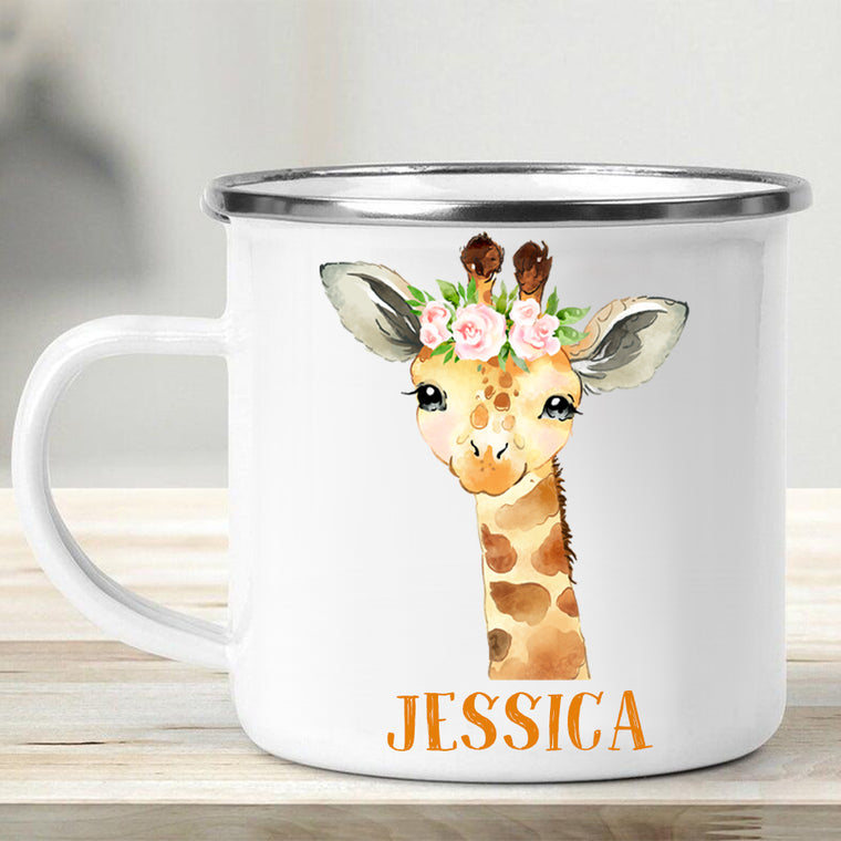 Custom Name Animal Enamel Campfire Mug II