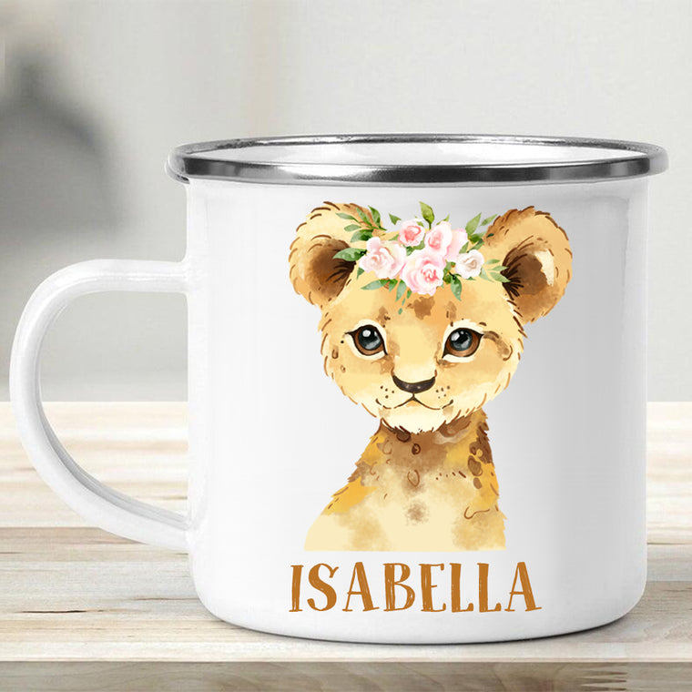 Custom Name Animal Enamel Campfire Mug III