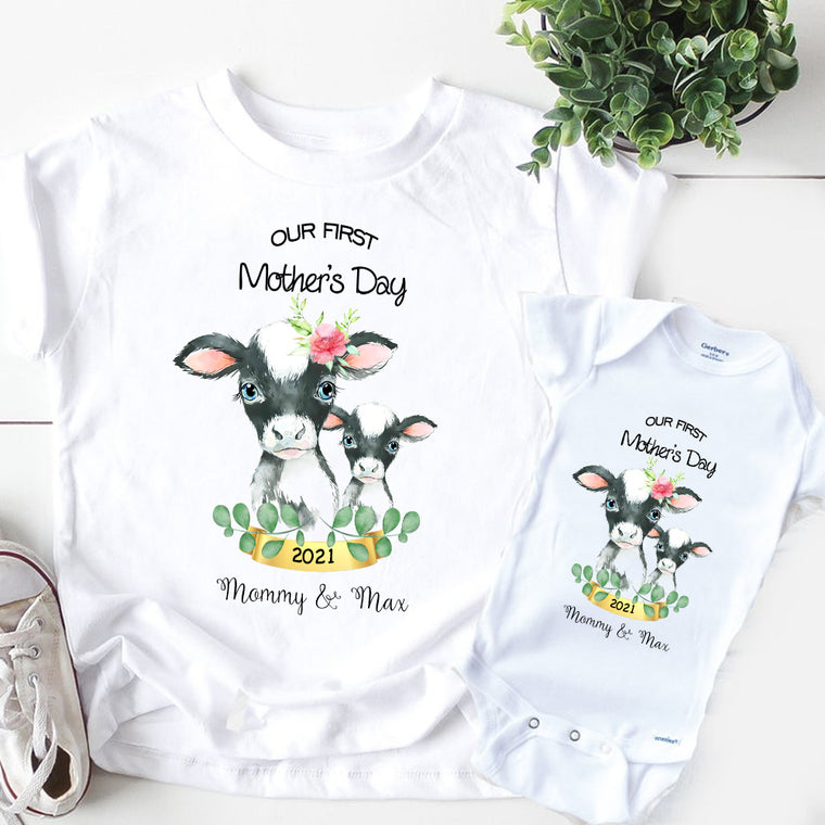 Custom First Mother's Day Unisex Heavy Cotton Tee