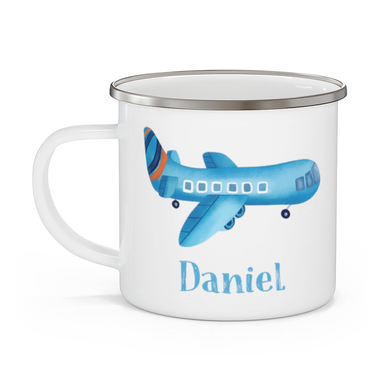 Custom Name airplane Enamel Campfire Mug Ⅱ