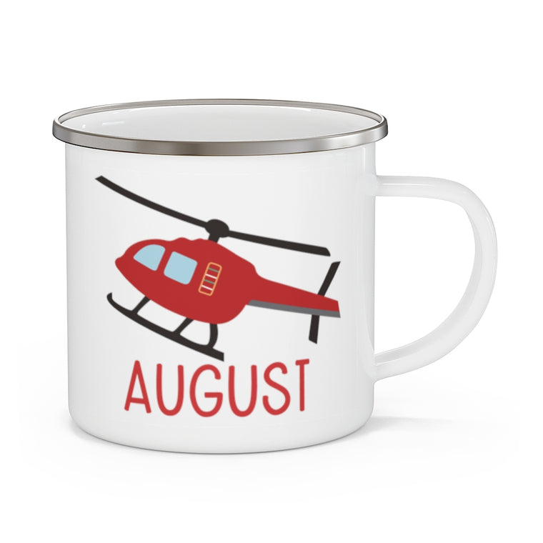 Custom Air Plane Children's Enamel Campfire Mug I
