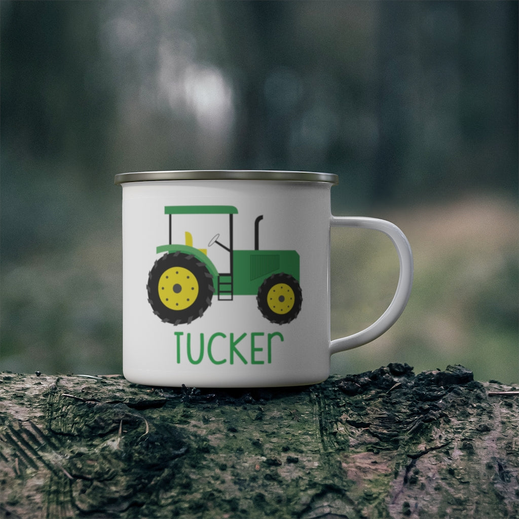 Custom Name Truck Children's Enamel Campfire Mug XXII