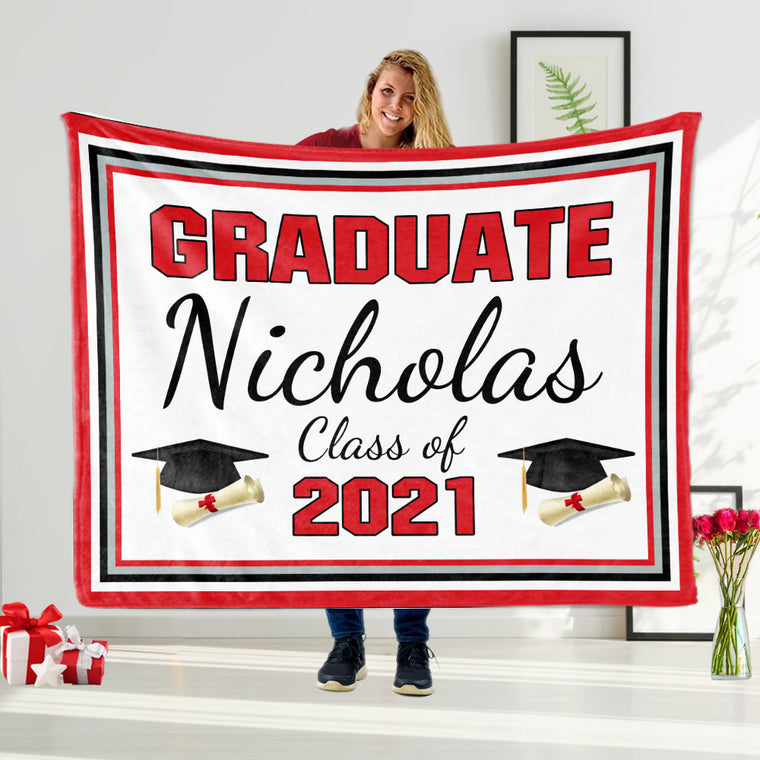 Custom Graduation Fleece Blankets for Class Of 2021 IV