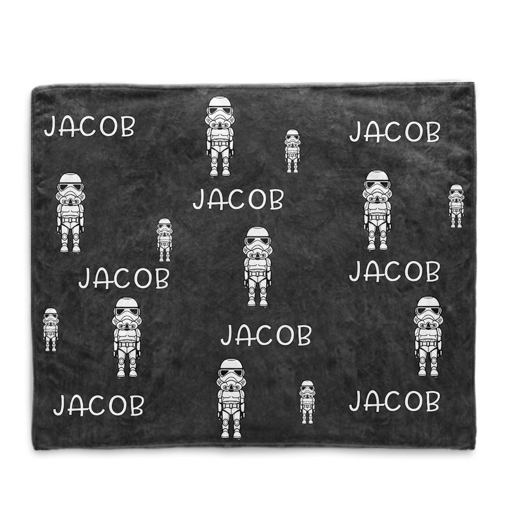 Personalized Name Cartoon Cozy Plush Fleece Blankets II - BUY 2 SAVE 10%