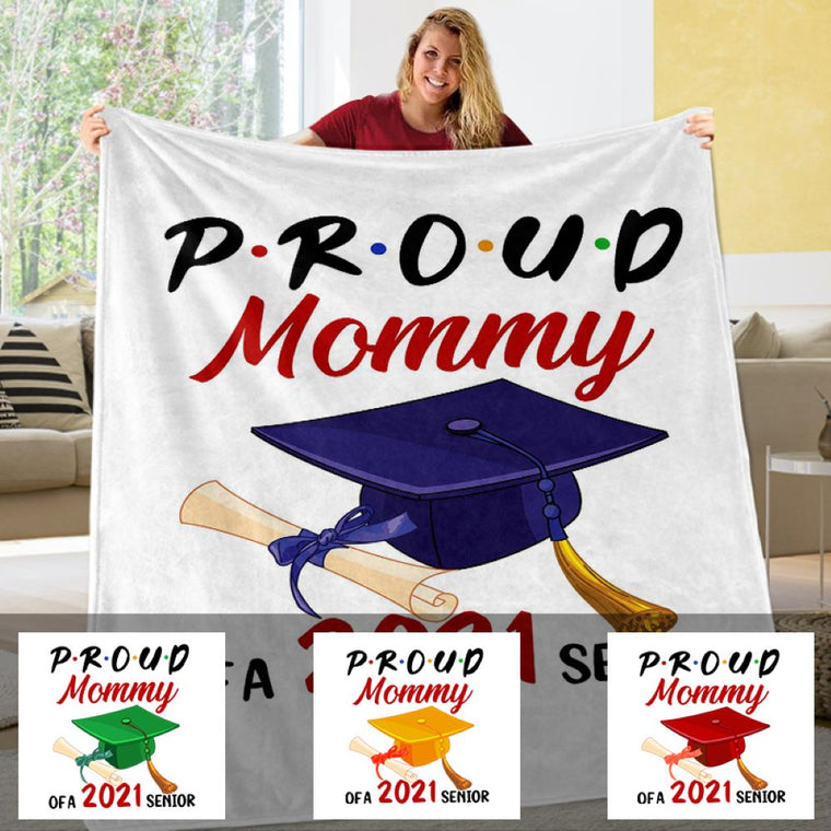 Custom Name Graduation Fleece Blanket