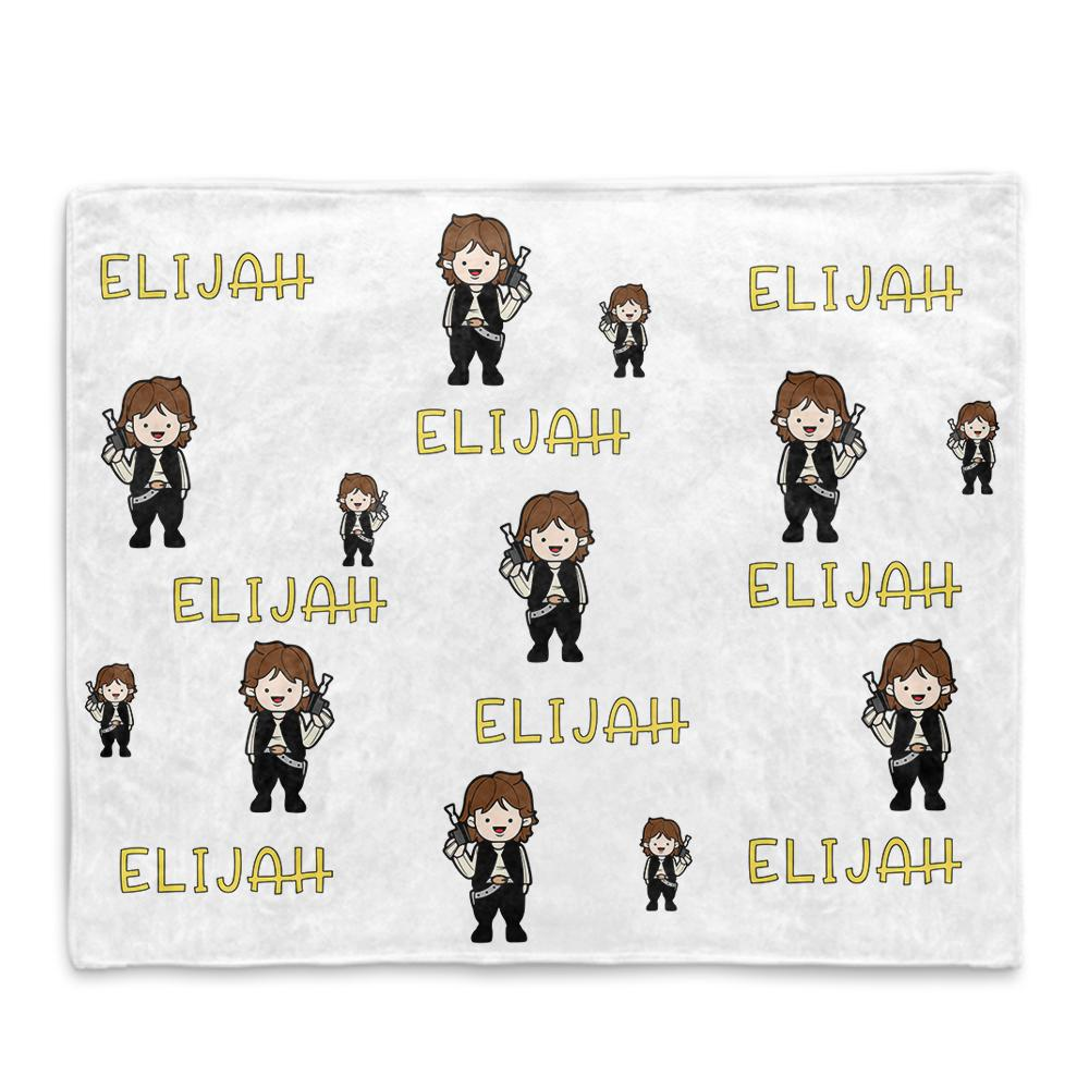 Personalized Name Cartoon Cozy Plush Fleece Blankets VI - BUY 2 SAVE 10%