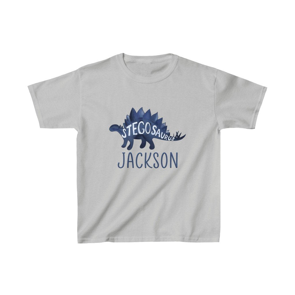 Custom Name Dinosaur Kids Heavy Cotton Tee I