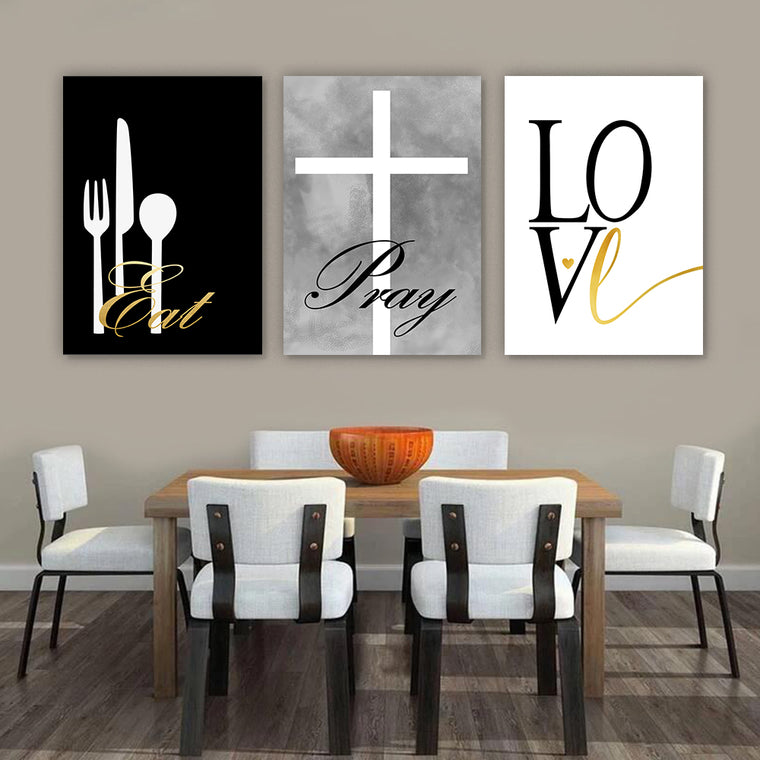 Eat Pray Love Modern Wall Art Set II