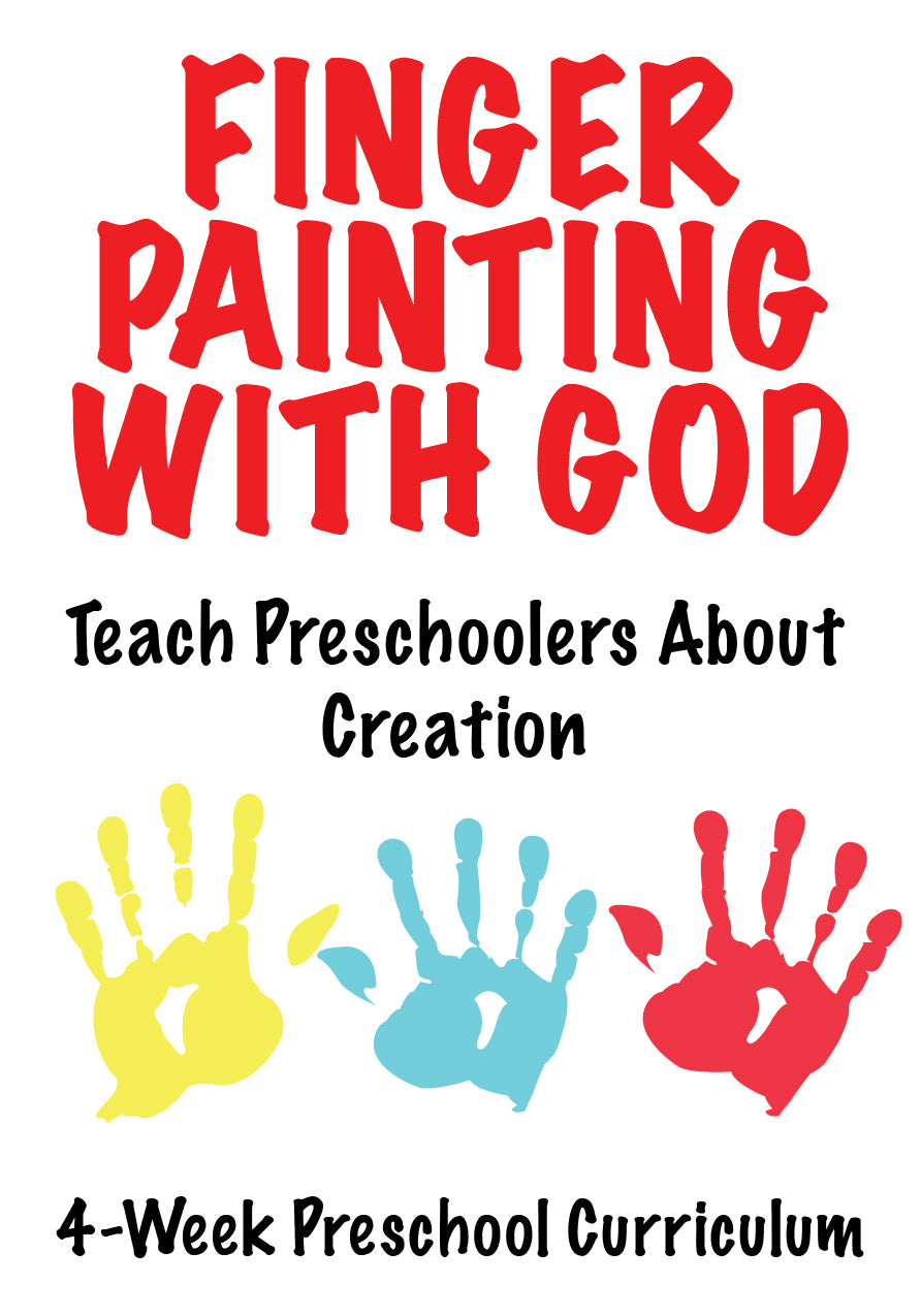 Finger Painting With God 4-Week Preschool Ministry Curriculum