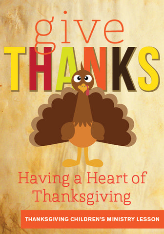 Give Thanks Children's Ministry Lesson