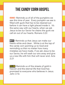 Candy Corn Gospel Cards For Kids