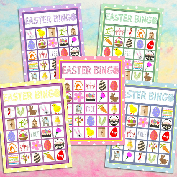 Easter Bingo Game For Kids Church