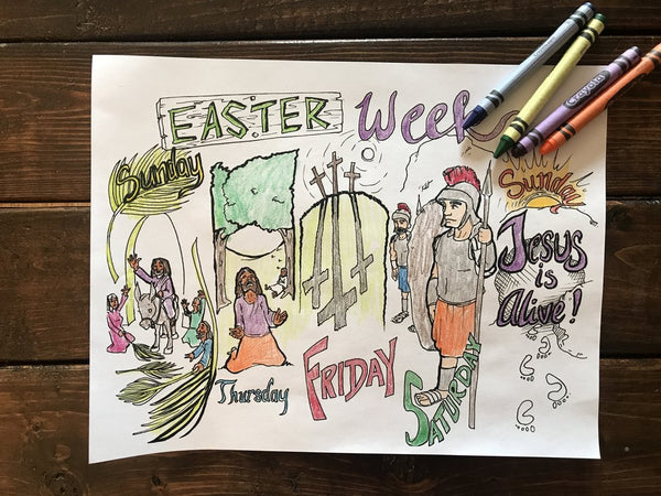 Easter Week Coloring Page