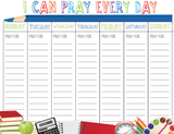 Back to School Prayer Calendar