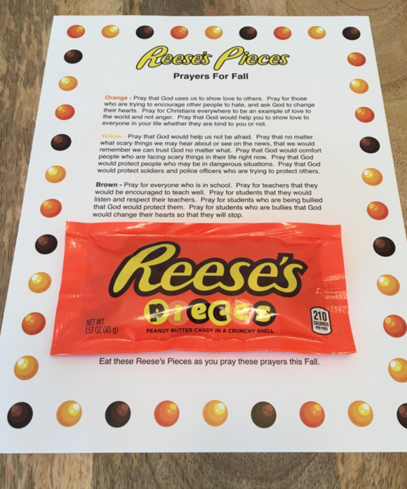 Reese's Pieces Prayer For Fall