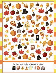 Thanksgiving Seek and Find Worksheet
