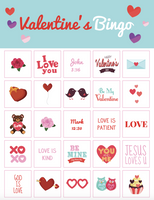 Valentine's Day Bingo Game