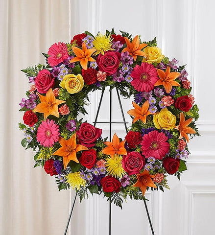 Serene Blessings Standing Wreath - Bright