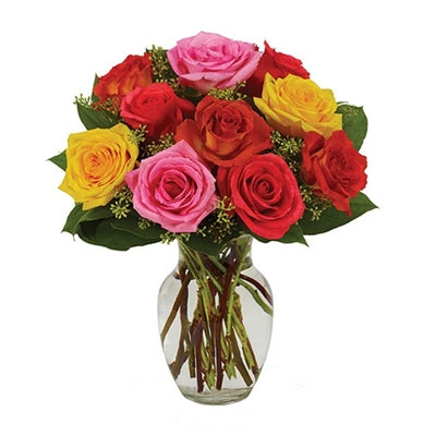 Assorted Roses - Bright