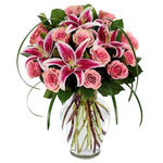 Sophisticated Rose & Stargazer Bouquet
