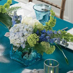 Blue Hydrangea and Delphinium Centerpiece