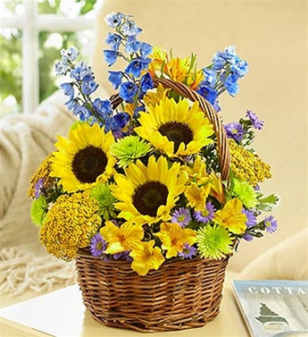 Flowers Fields of Europe Summer Basket