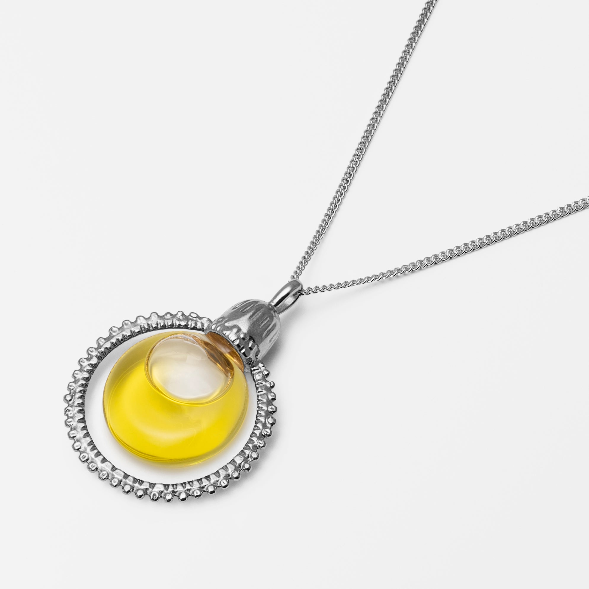 Halo Oil Necklace Silver