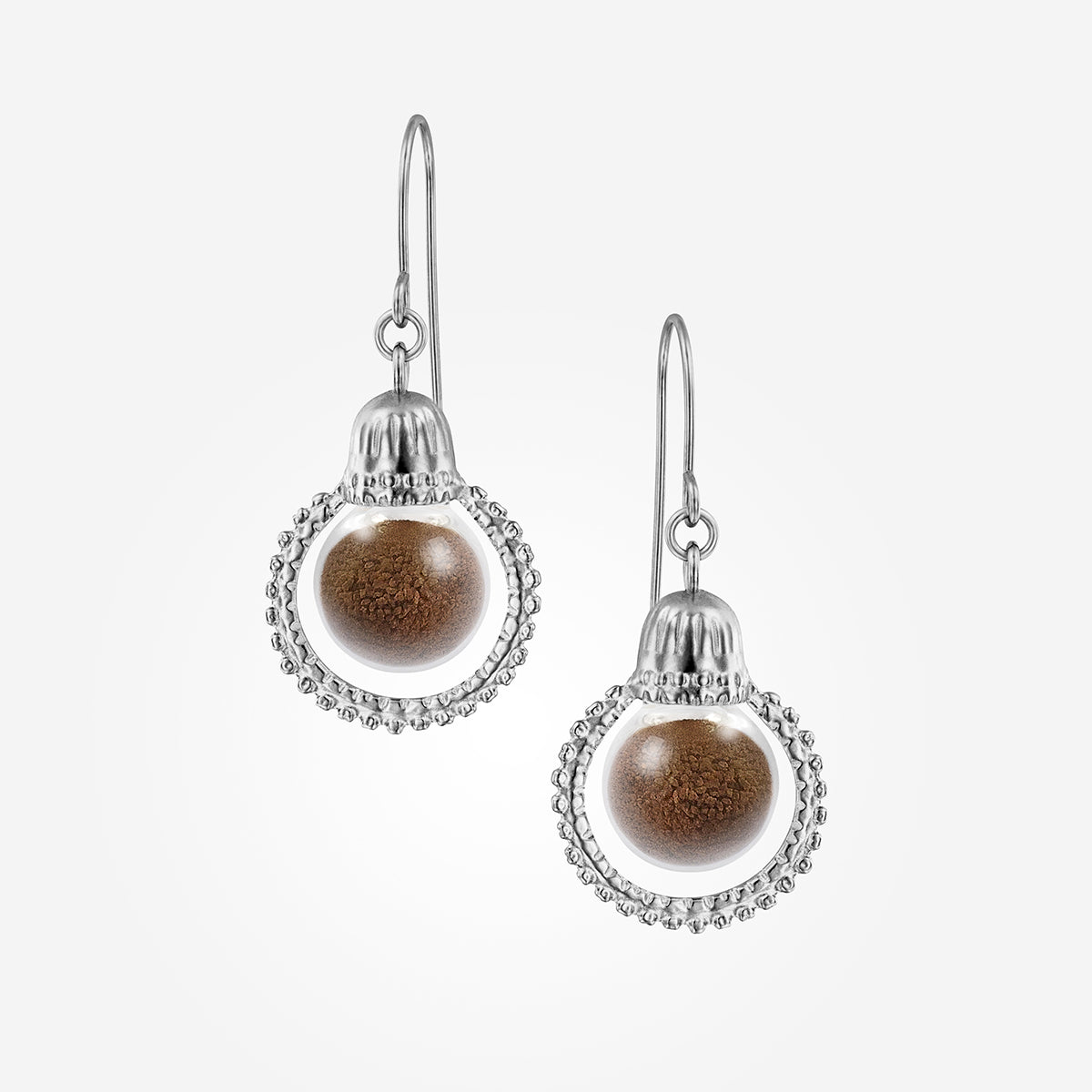 Halo Soil Earrings Silver