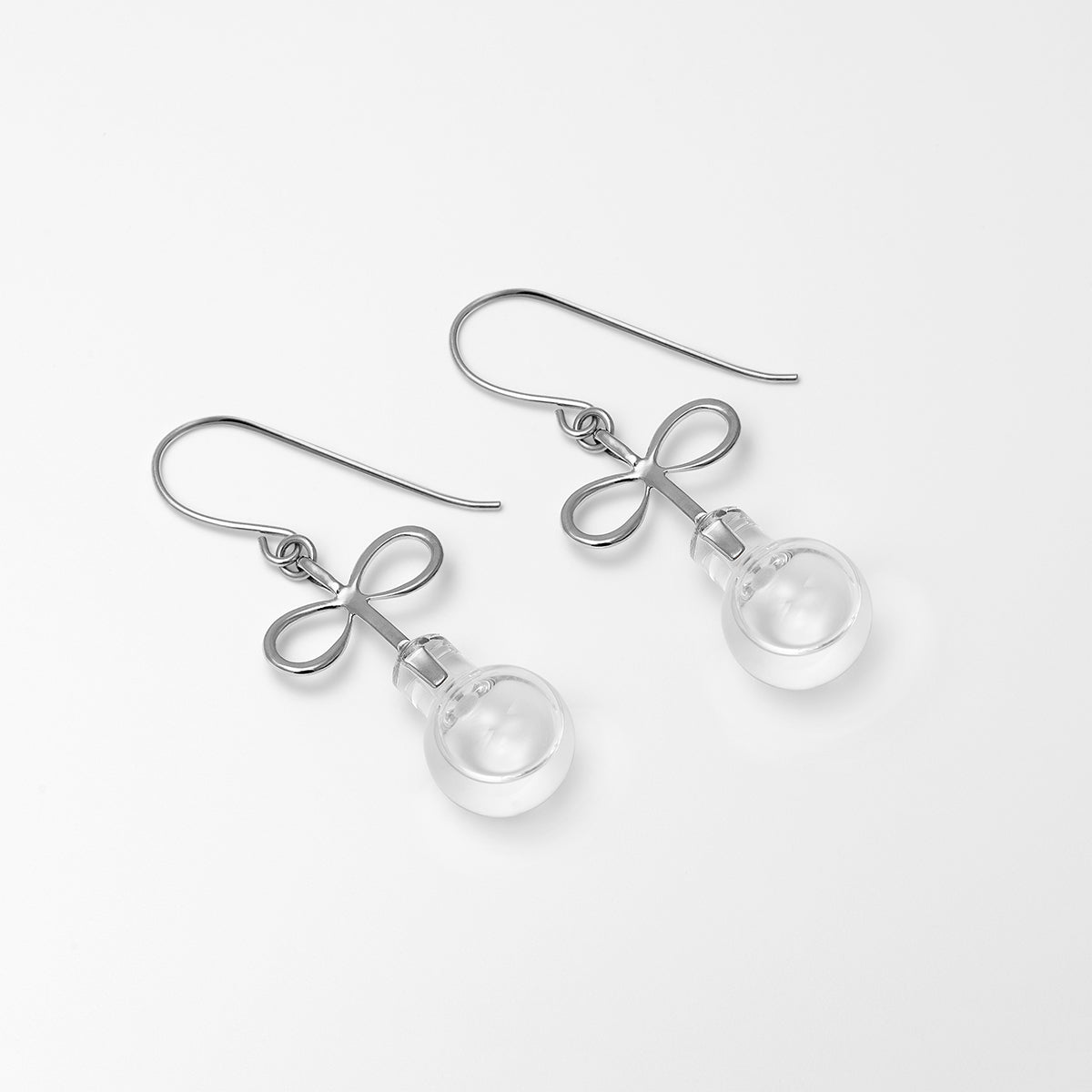 Infinity Water Earrings Silver