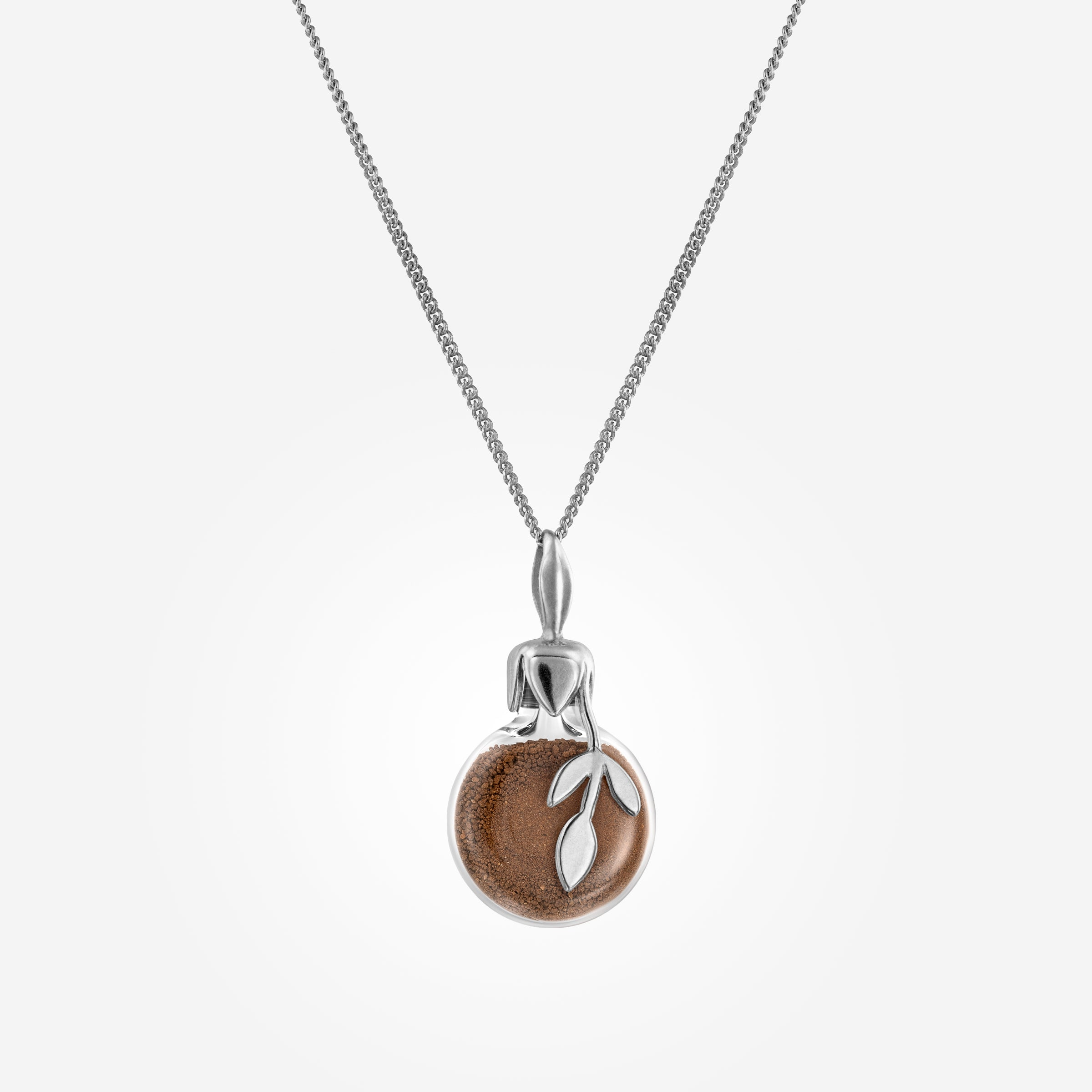 Leaf Soil Necklace Silver