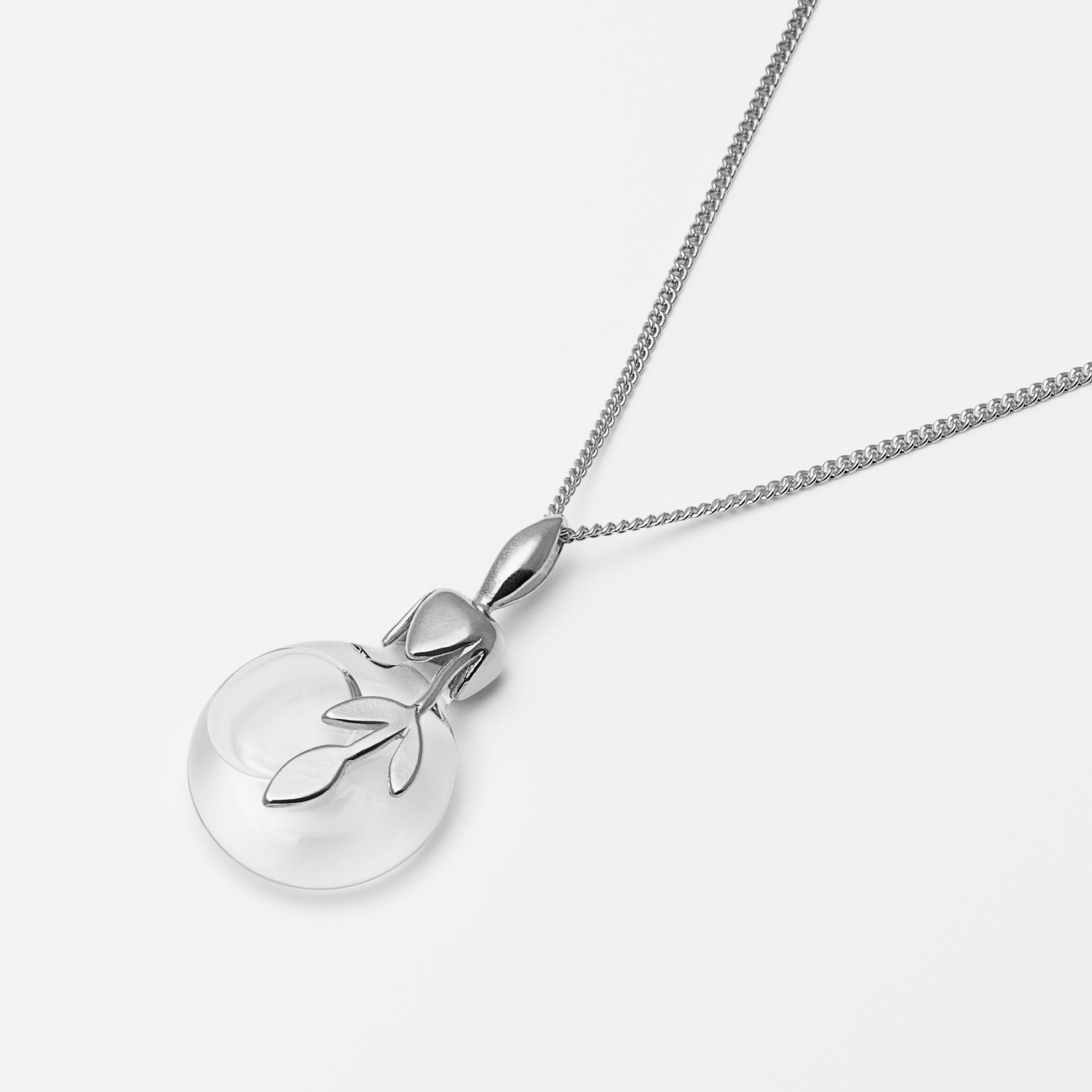 Leaf Water Necklace Silver