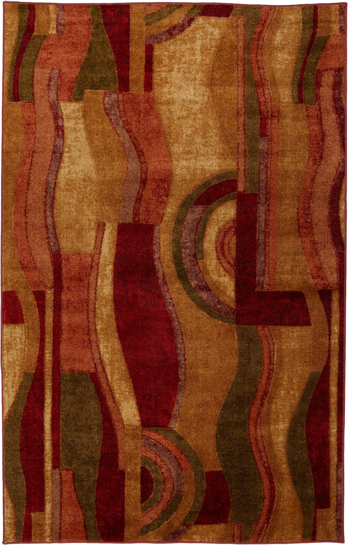 Marina Vino Red & Orange Area Rug