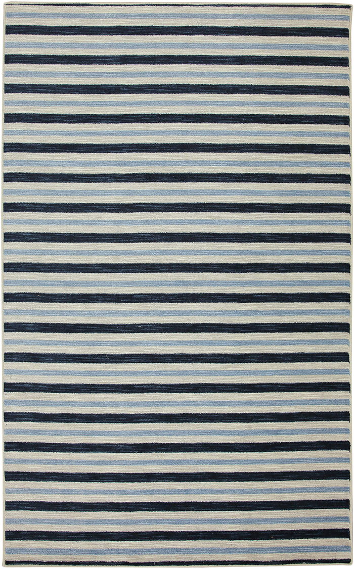 Lucia Zuma Stripe Blue Area Rug