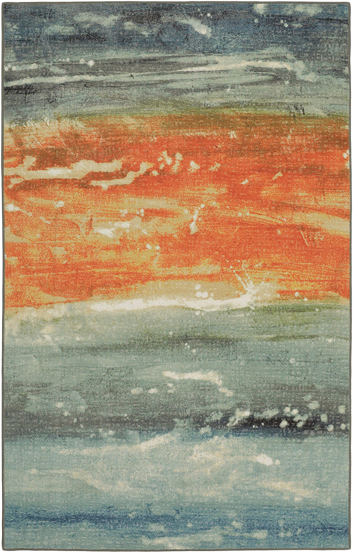 Lucia Atzi Seascape Blue & Orange Area Rug