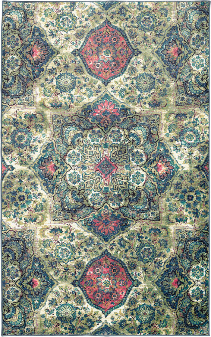 Lucia Jubilee Blue & Pink Area Rug