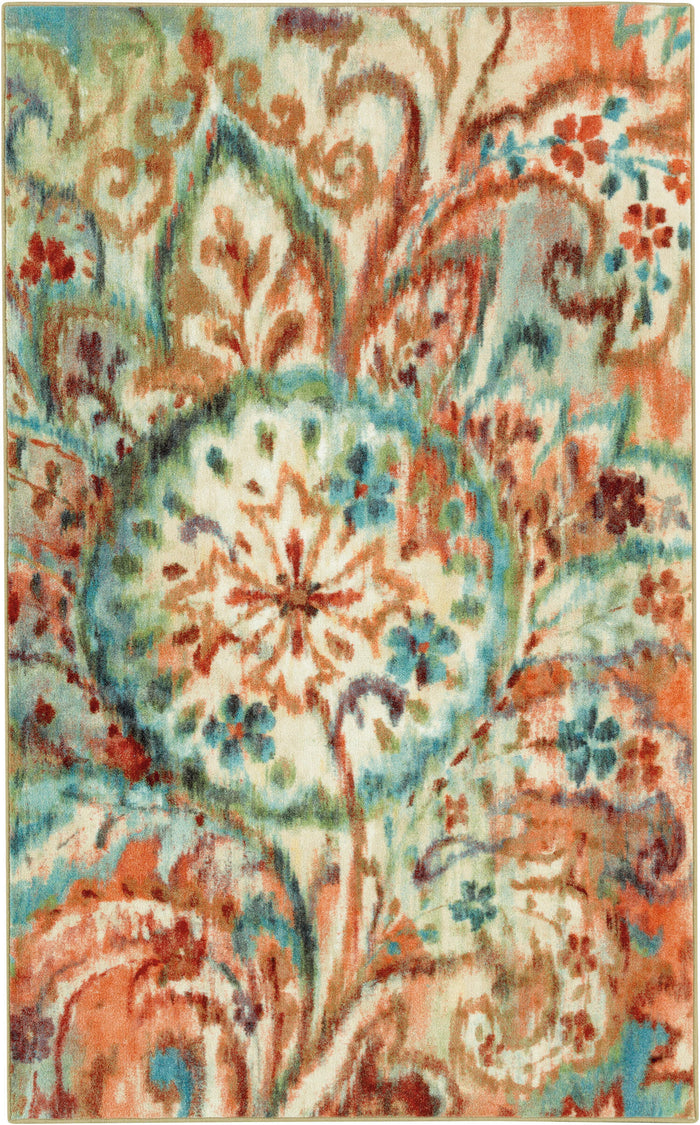 Lucia Gypsy Garden Blue & Orange Area Rug