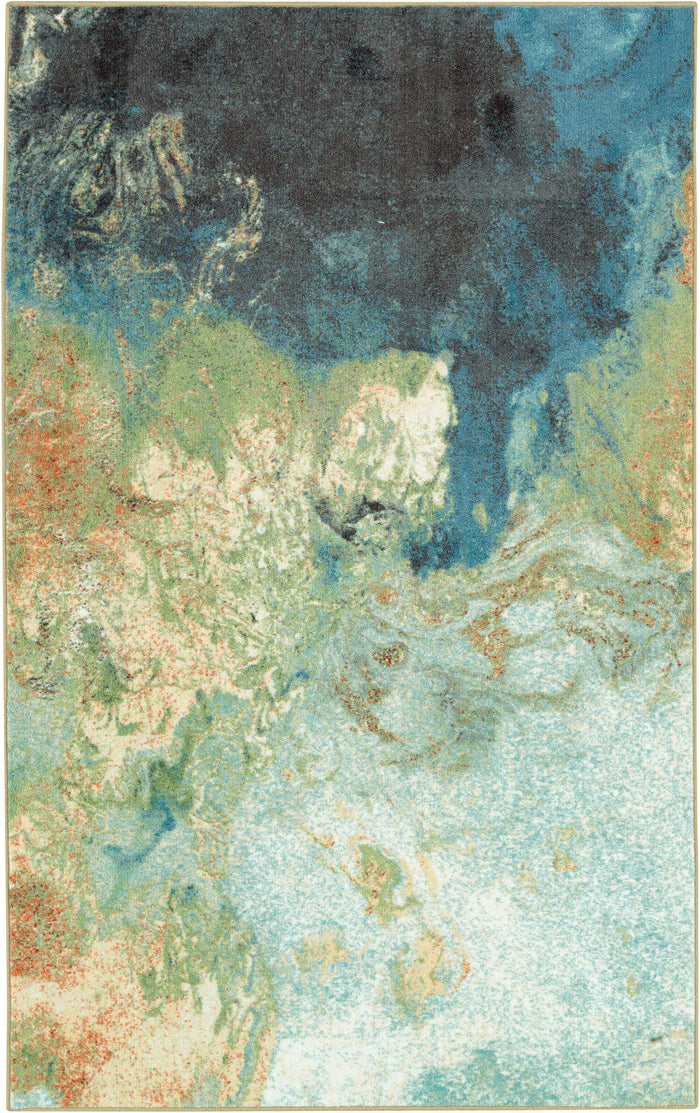 Lucia Marble Ink Blue Area Rug