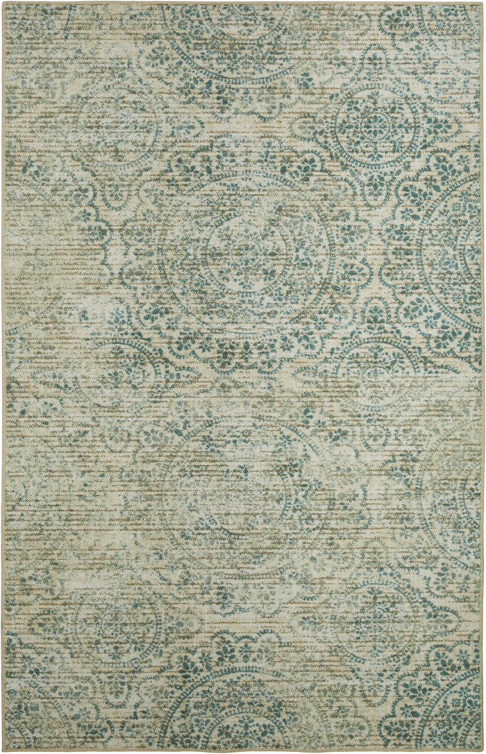 Timor Nanci White & Blue Area Rug
