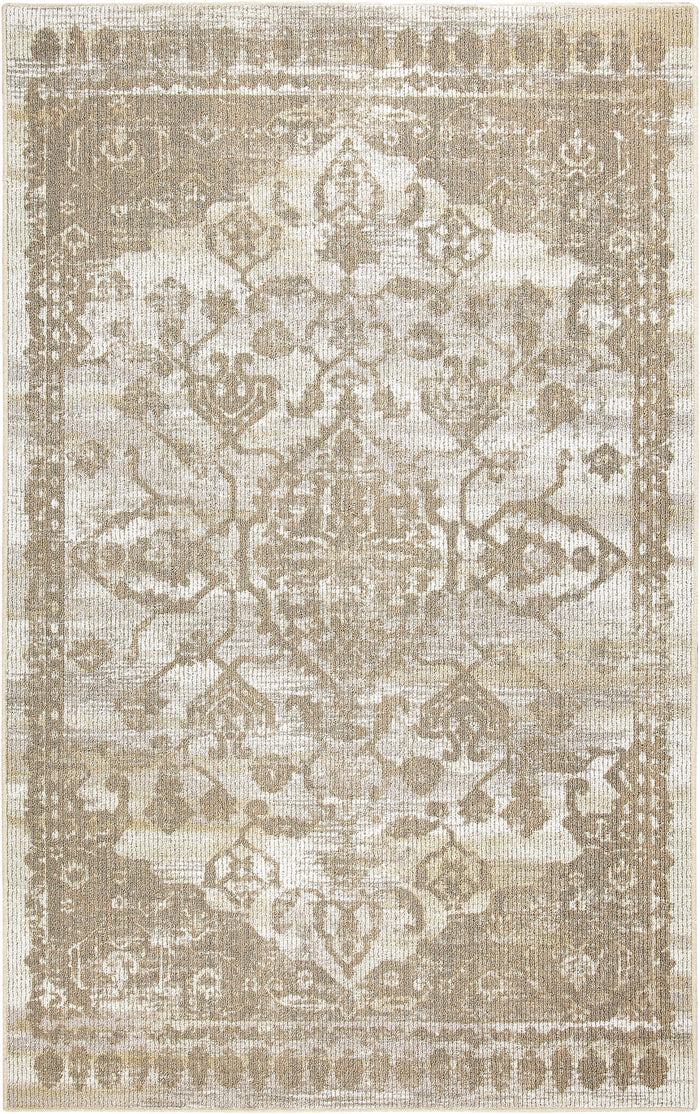 Kauai Cliffside White & Brown Area Rug